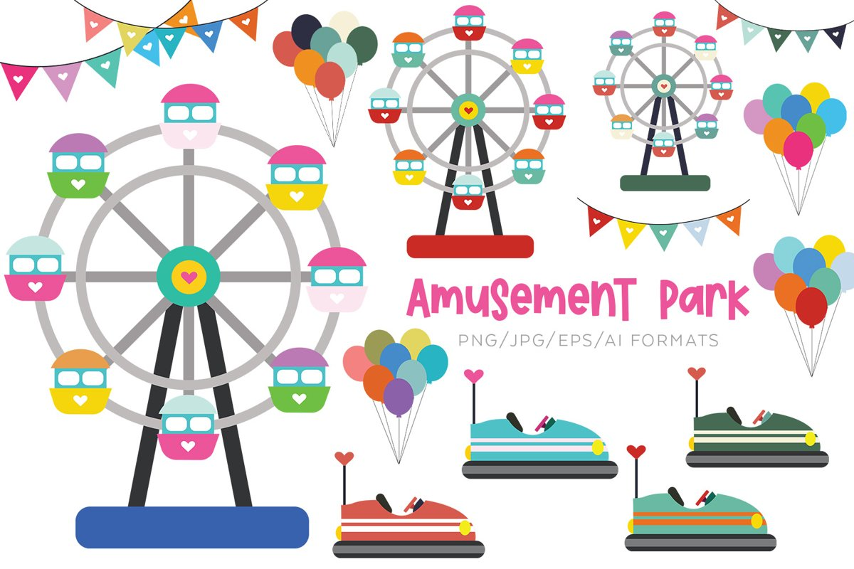 Amusement Park Vector Clipart example image 1