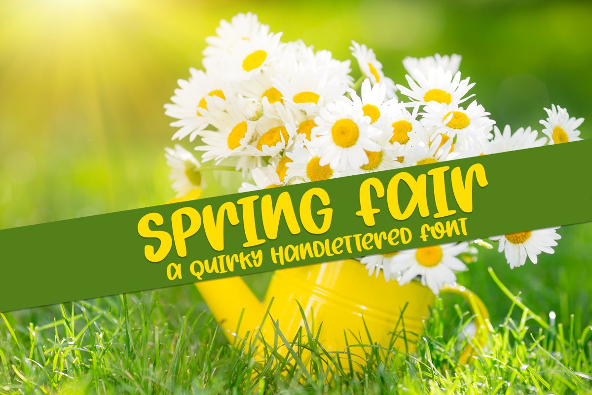 Spring Fair - A Quirky Hand-Lettered Font example image 1
