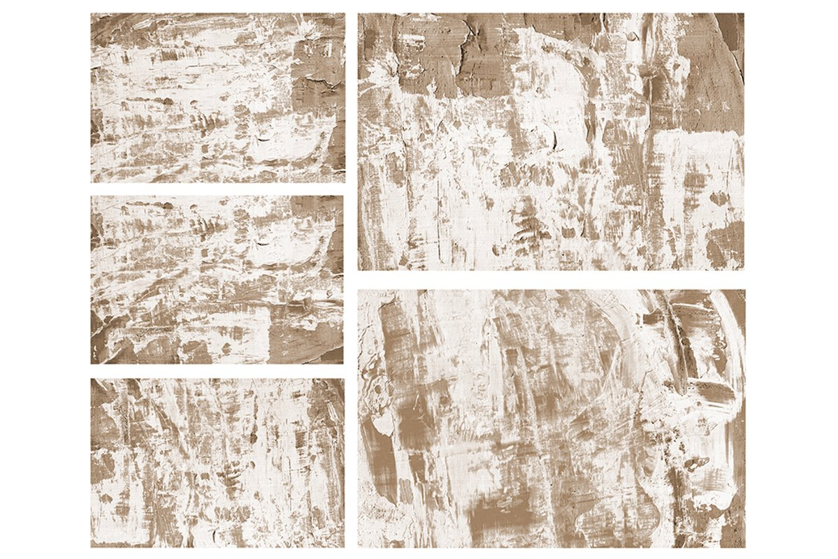 Set of 5 images. Abstract art background. Acrylic painting example image 1