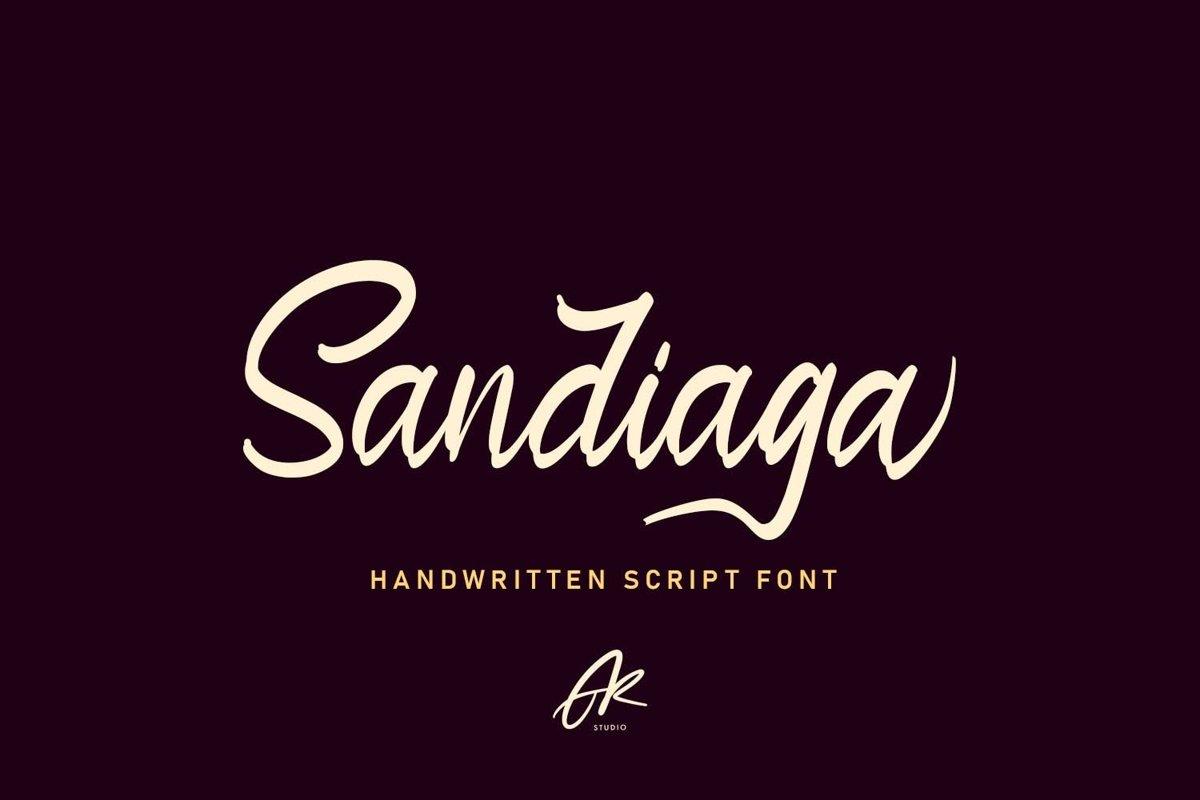 Sandiaga | Modern Script Font example image 1