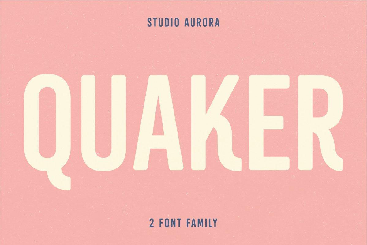 Quaker - Sans Serif Americana Font example image 1