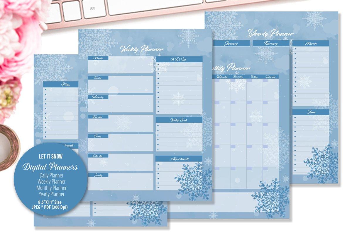 Let It Snow Digital Planner example image 1
