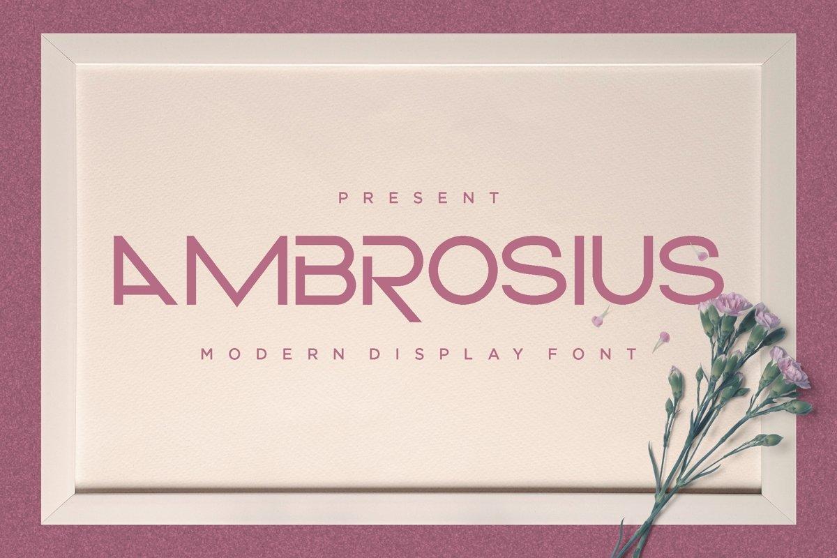 Ambrosius - Modern Display Font example image 1