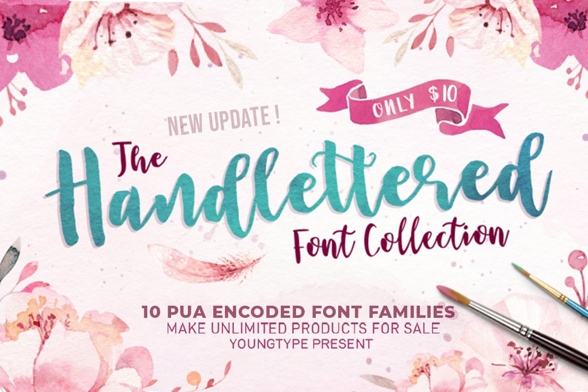 The Handlettered Font Collection example image 1