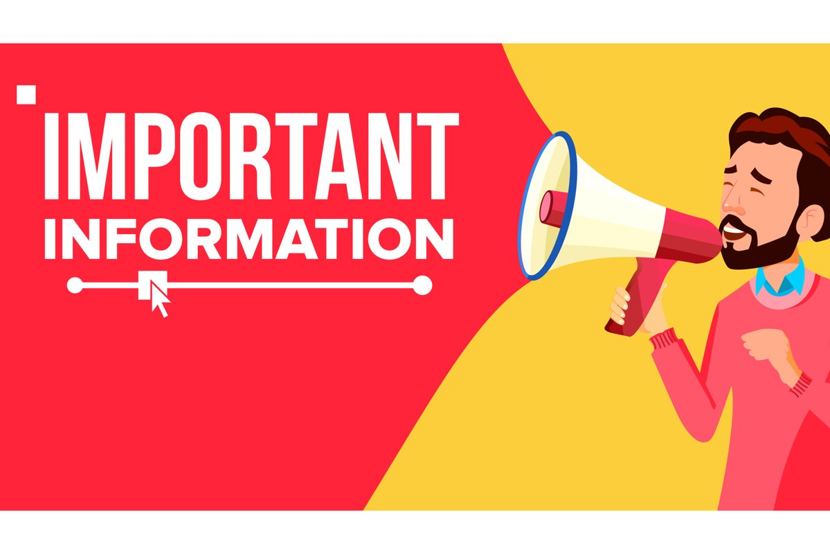 Important Information Banner Vector. Businessman With example image 1