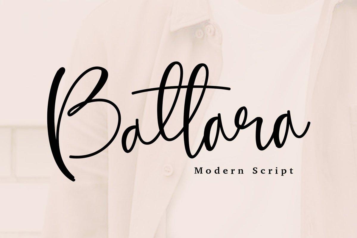 Battara script font example image 1