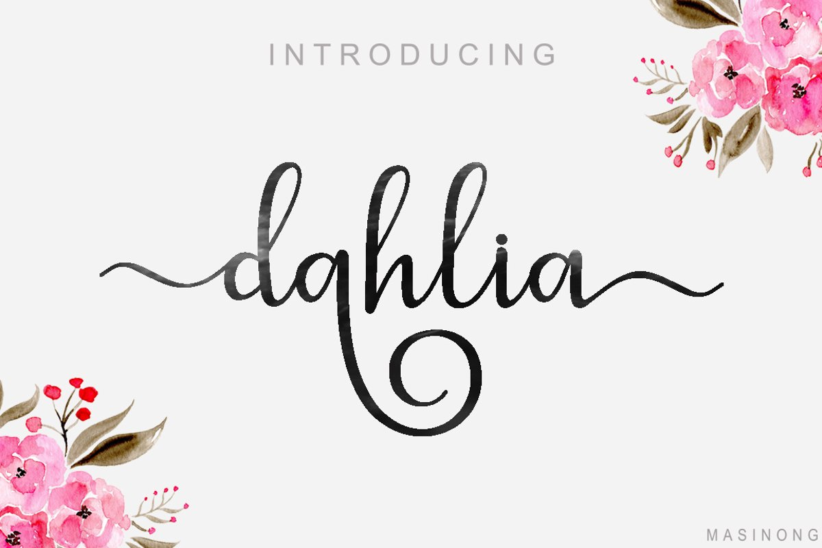 dahlia script example image 1