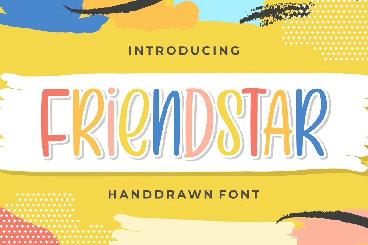 Friendstar - Handdrwan Font example image 1
