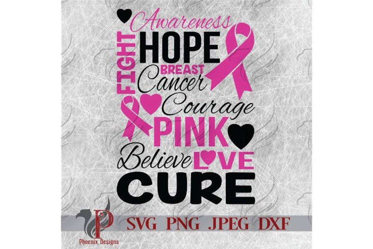 Breast Cancer Awareness Svg Pink Ribbon Cancer Svg 277962