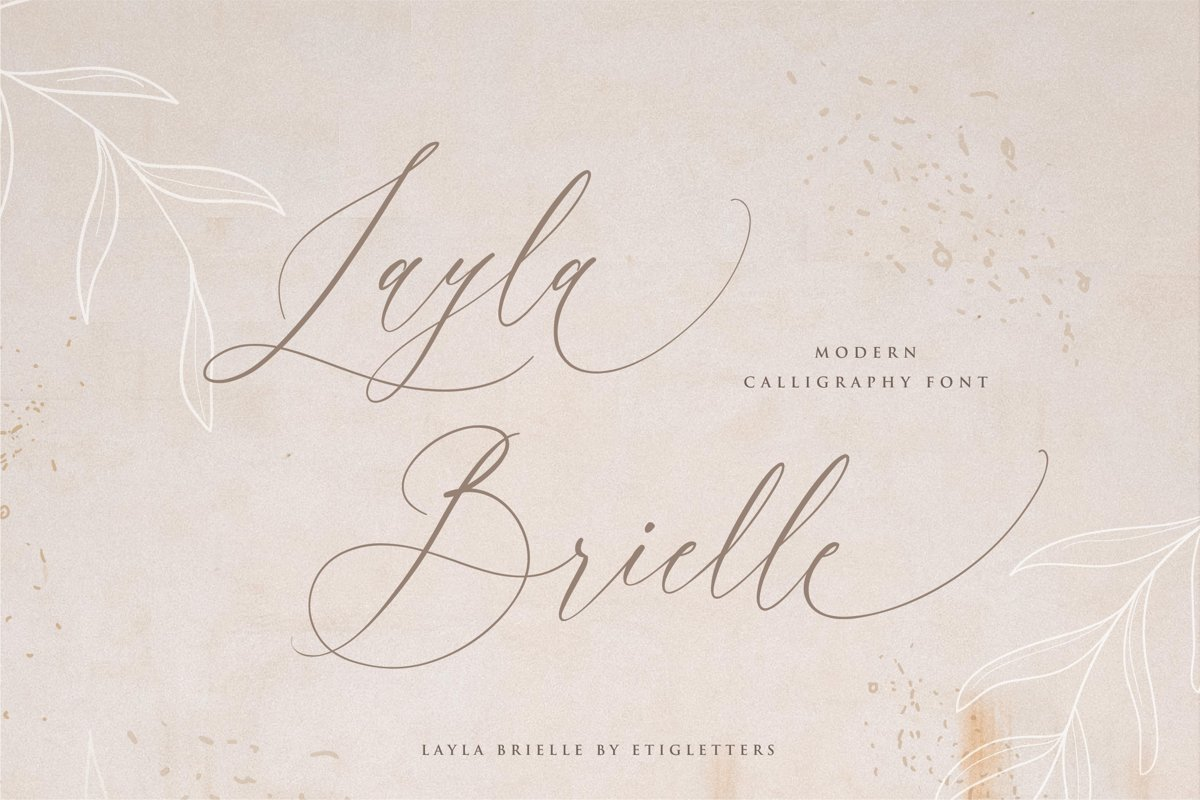 Layla Brielle Calligraphy Font example image 1