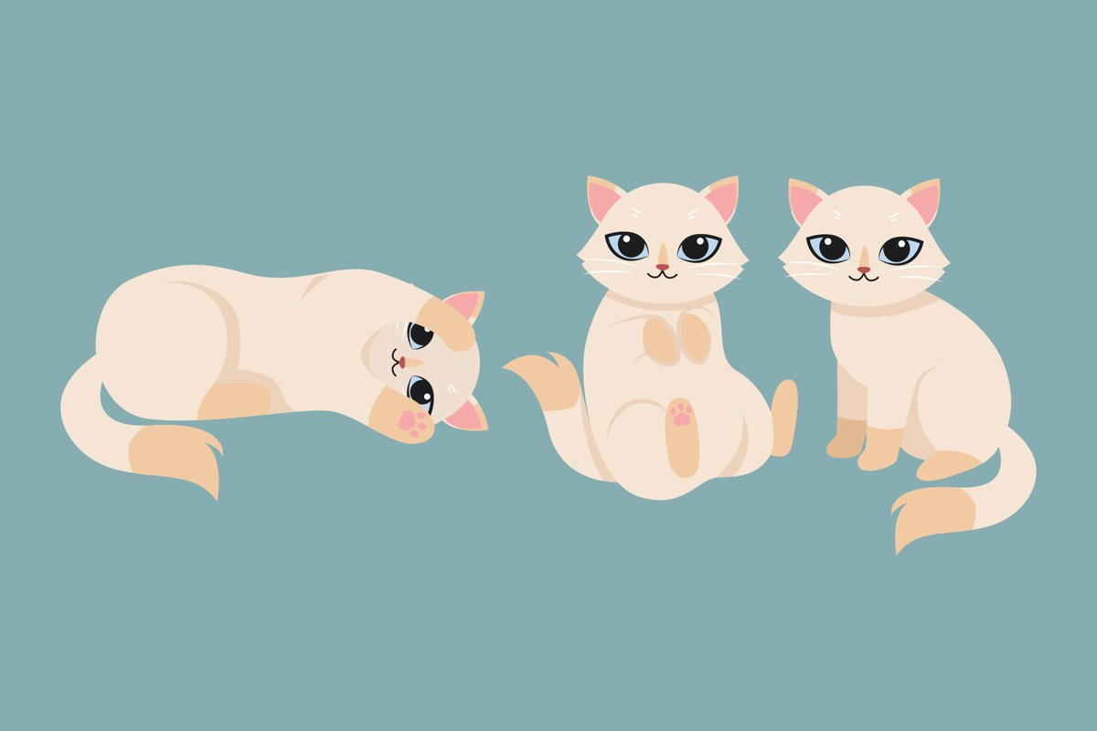 Kitten Illustrations example image 1