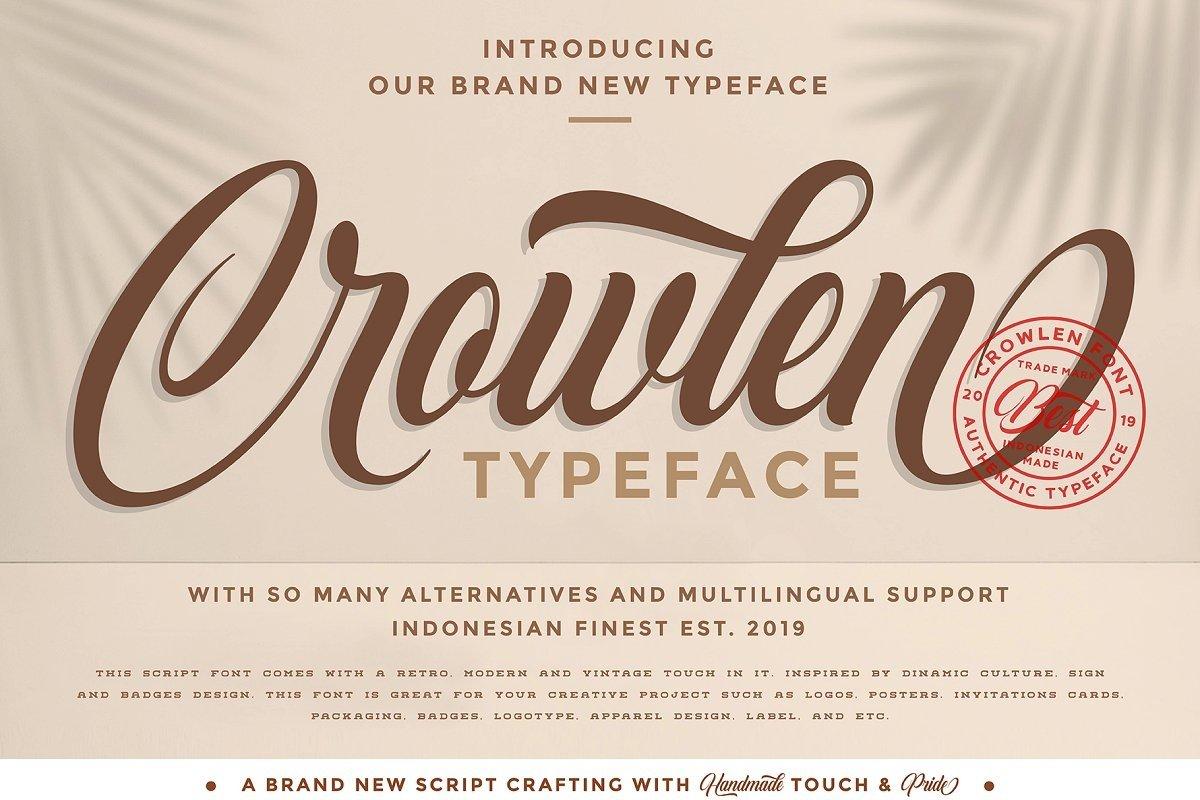 Crowlen Typeface example image 1