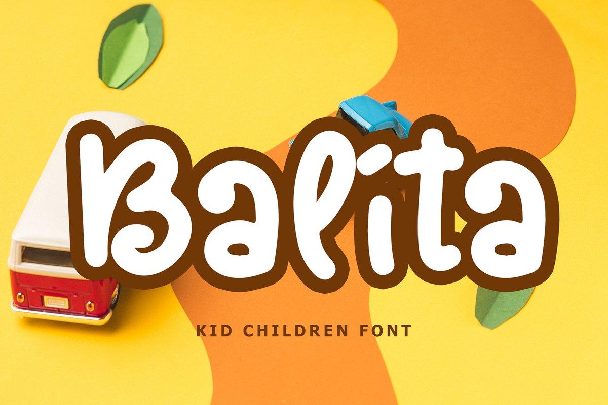 Balita Kids Display Font example image 1