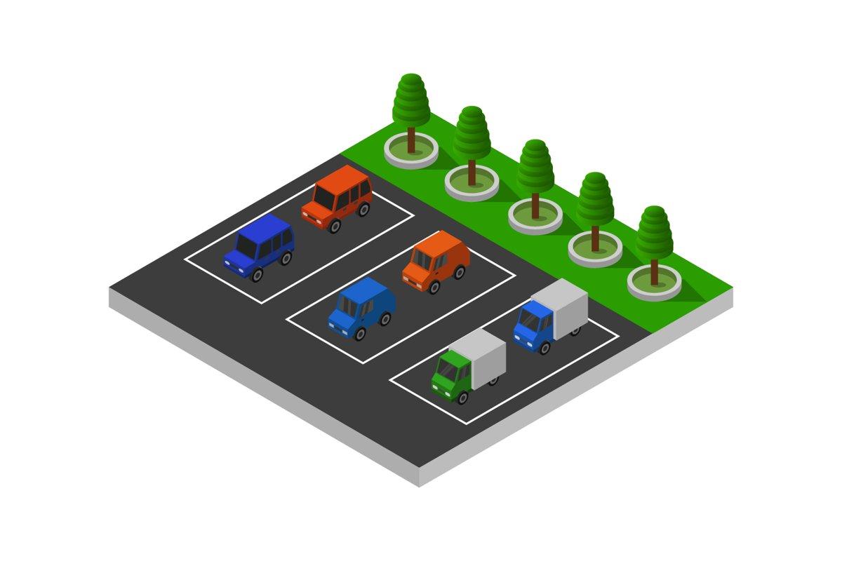 isometric parking example image 1
