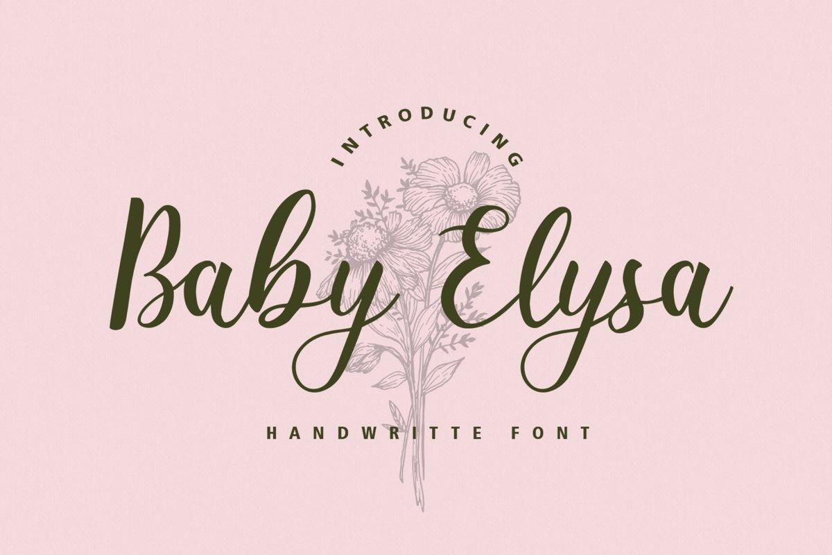 Baby Elysa example image 1