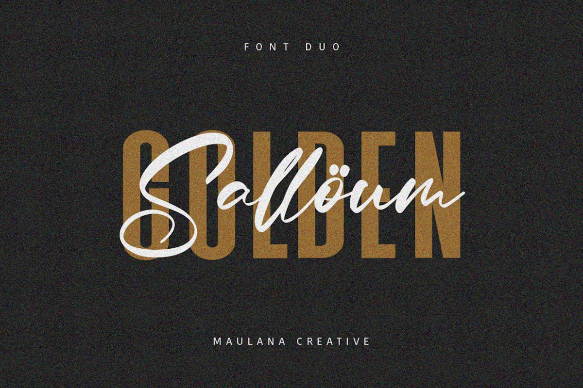 Salloum Golden Font Duo example image 1