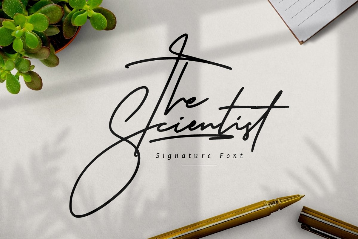 The Scientist Signature example image 1