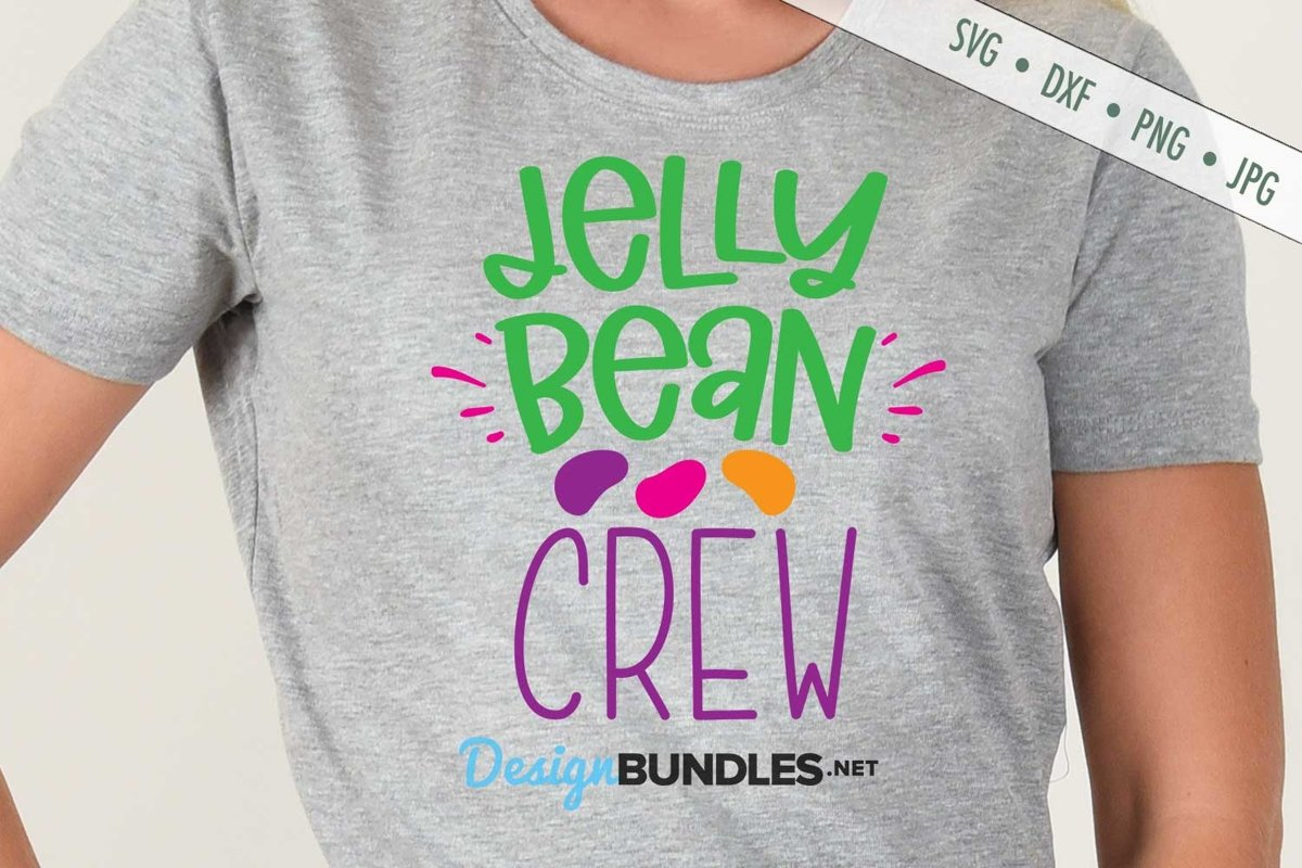 Jelly Bean Crew SVG | Easter SVG example image 1