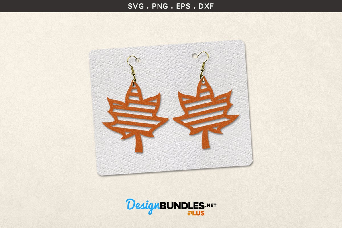 Earrings Template | Autumn Leaves example image 1