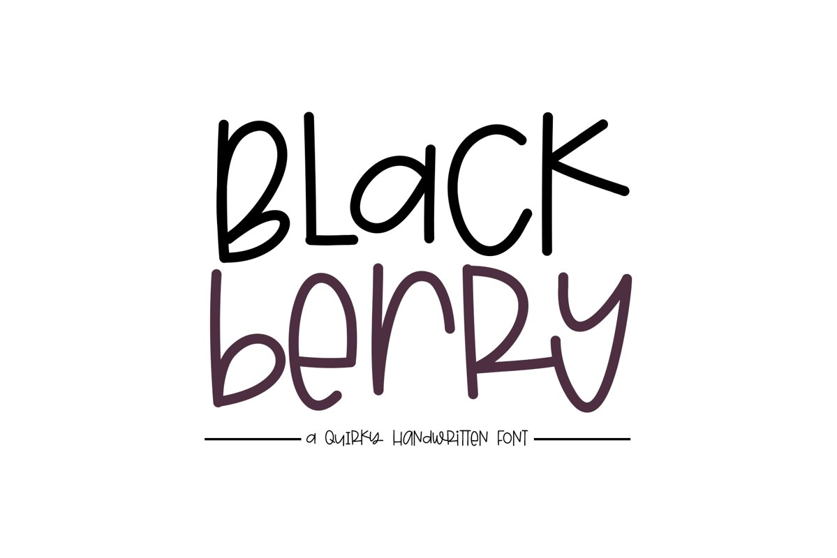 Blackberry - A Fun & Mismatched Font example image 1