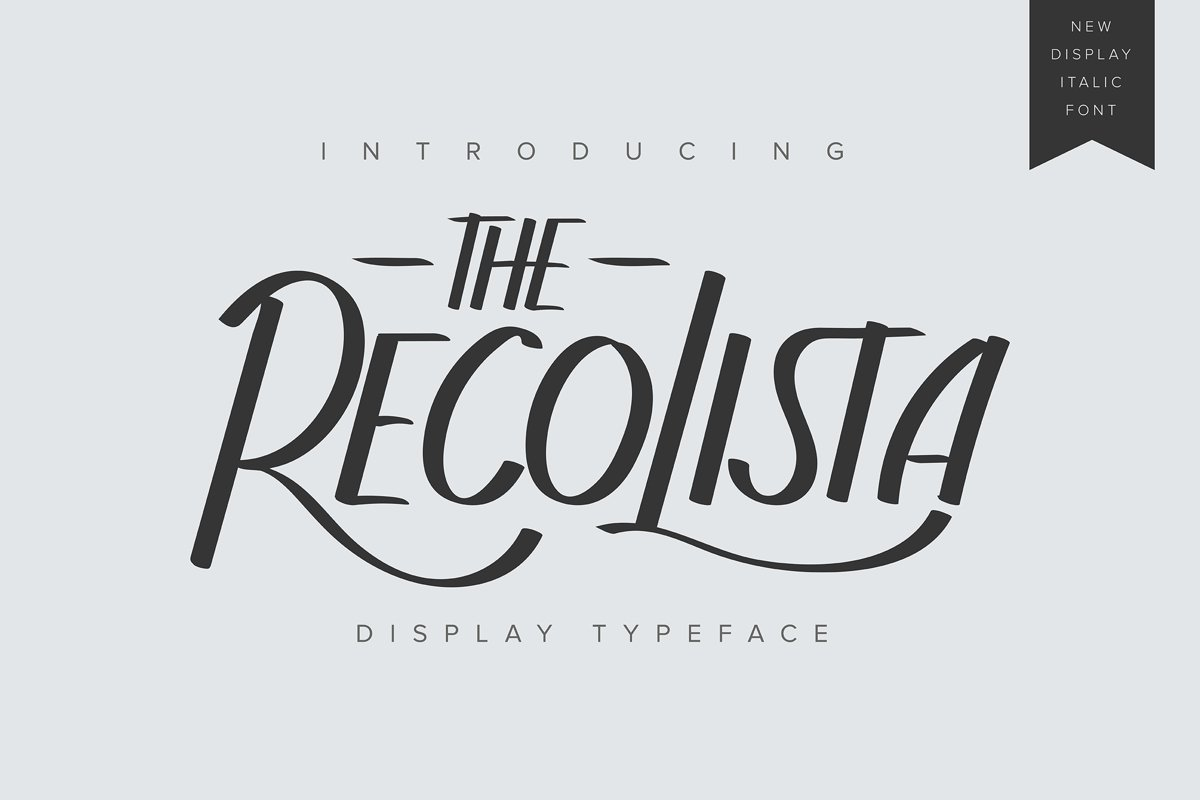The Recolista | Display Typeface example image 1