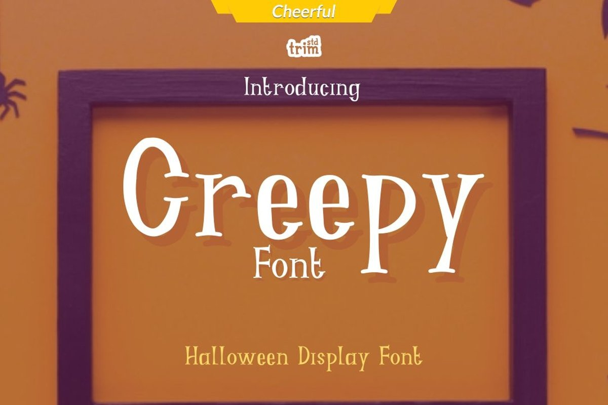 Creepy - Halloween Fright Font example image 1