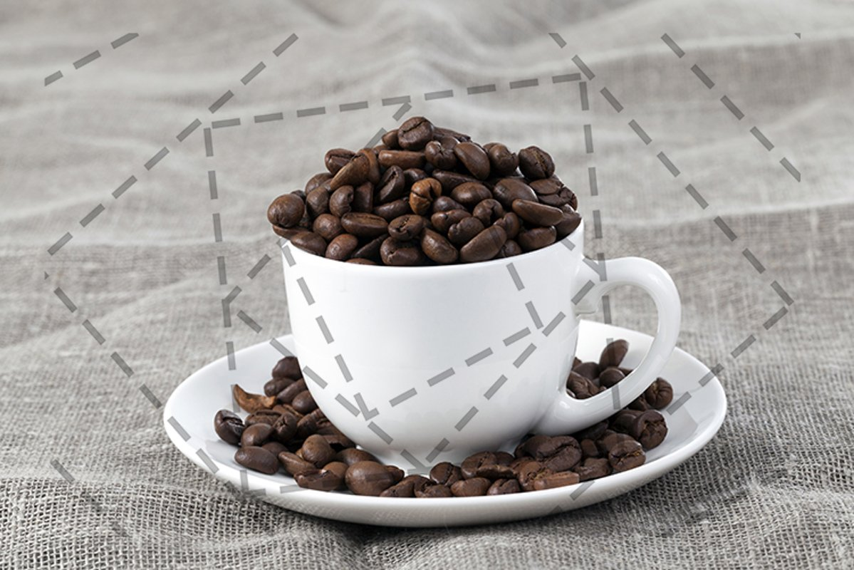 grains of roasted coffee example image 1