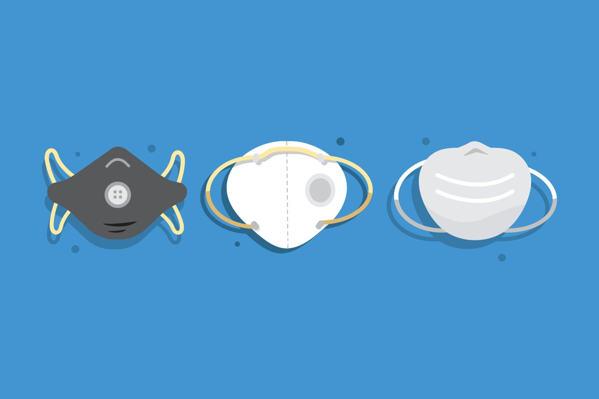 Face Mask Illustrations example image 1