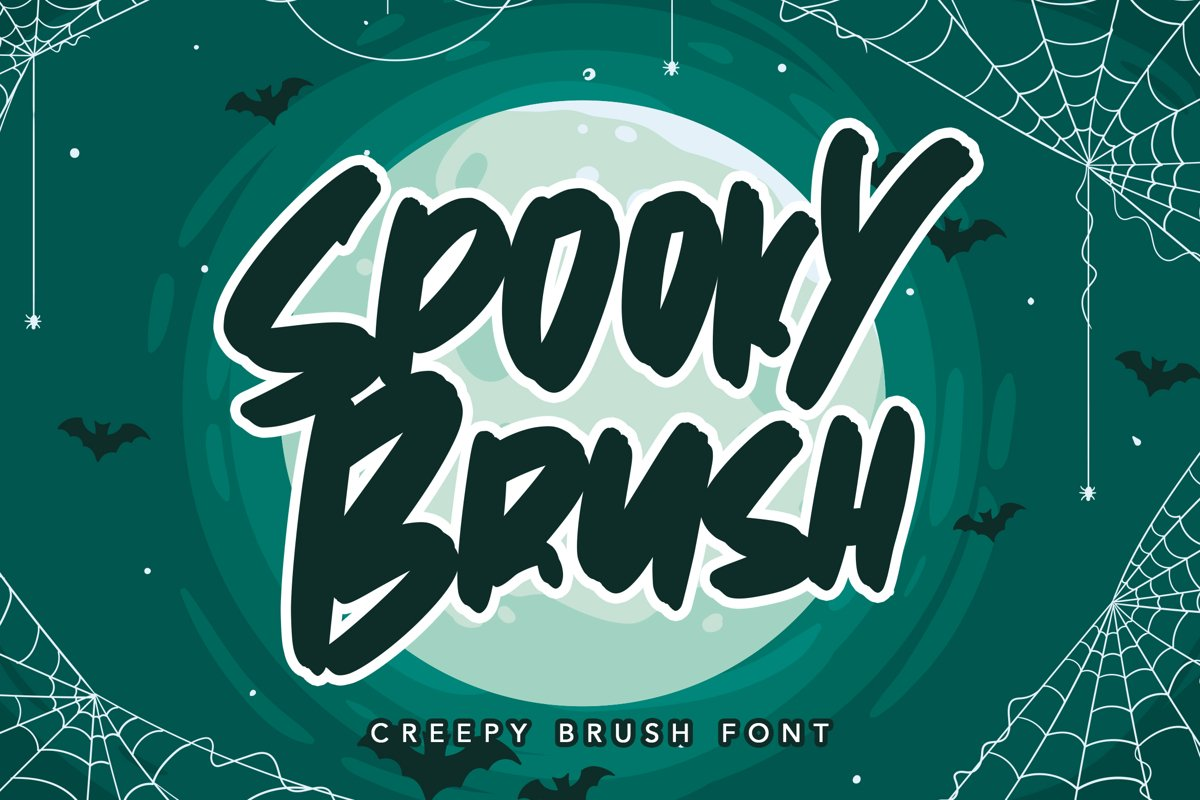 Spooky Brush - Hallowen Fonts example image 1