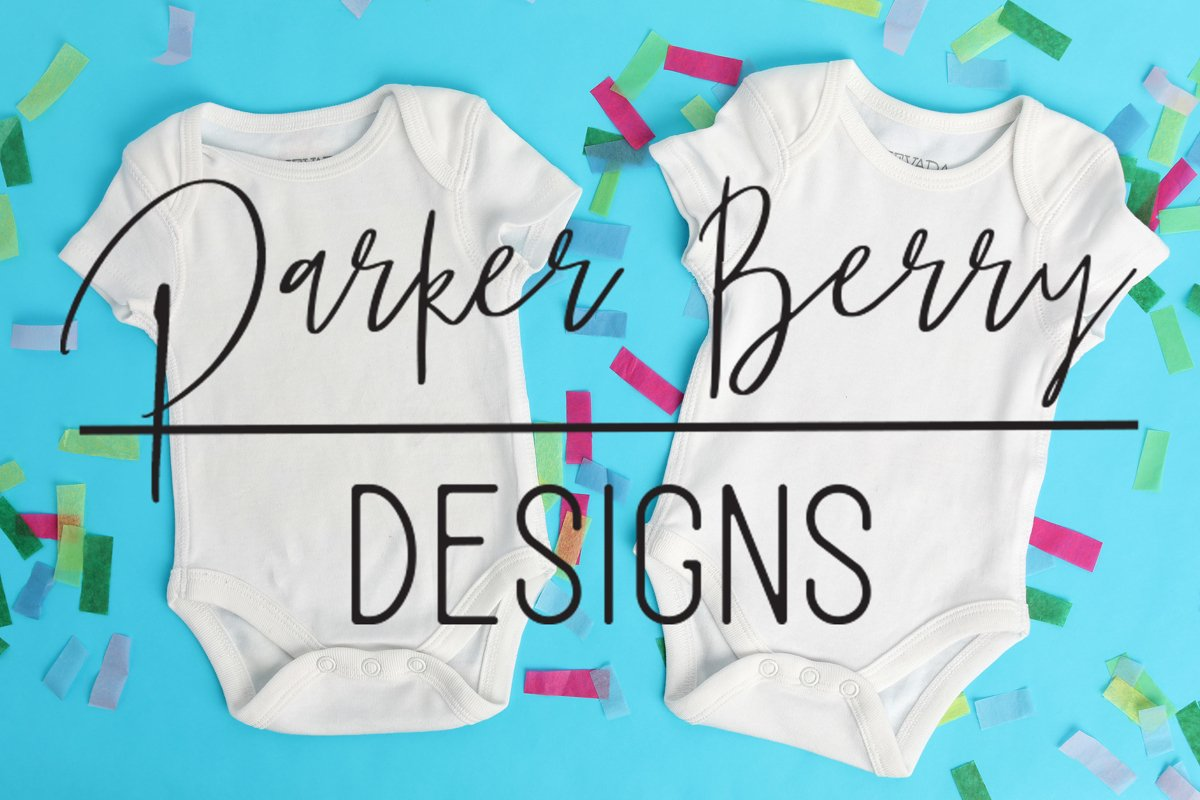 White Two Baby Bodysuit Mock up, Digital Download for svgs example image 1