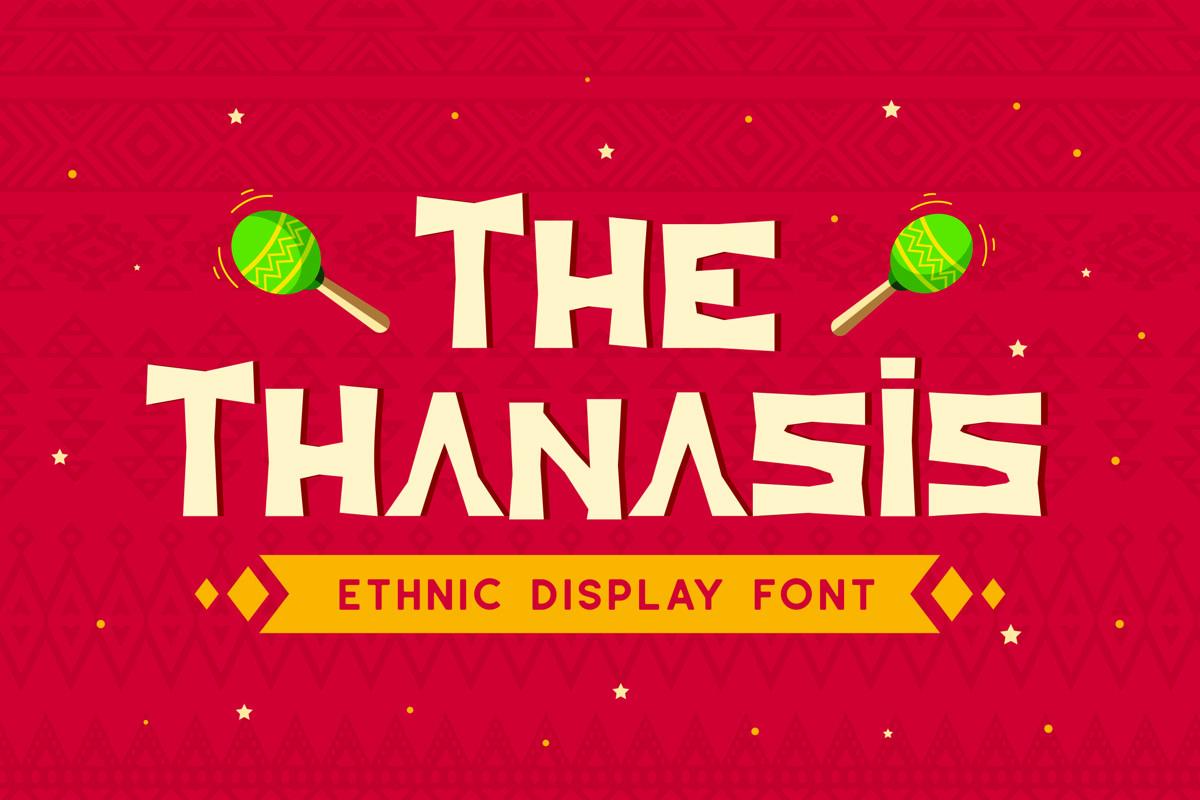 Thanasis - Ethnic Display Font example image 1