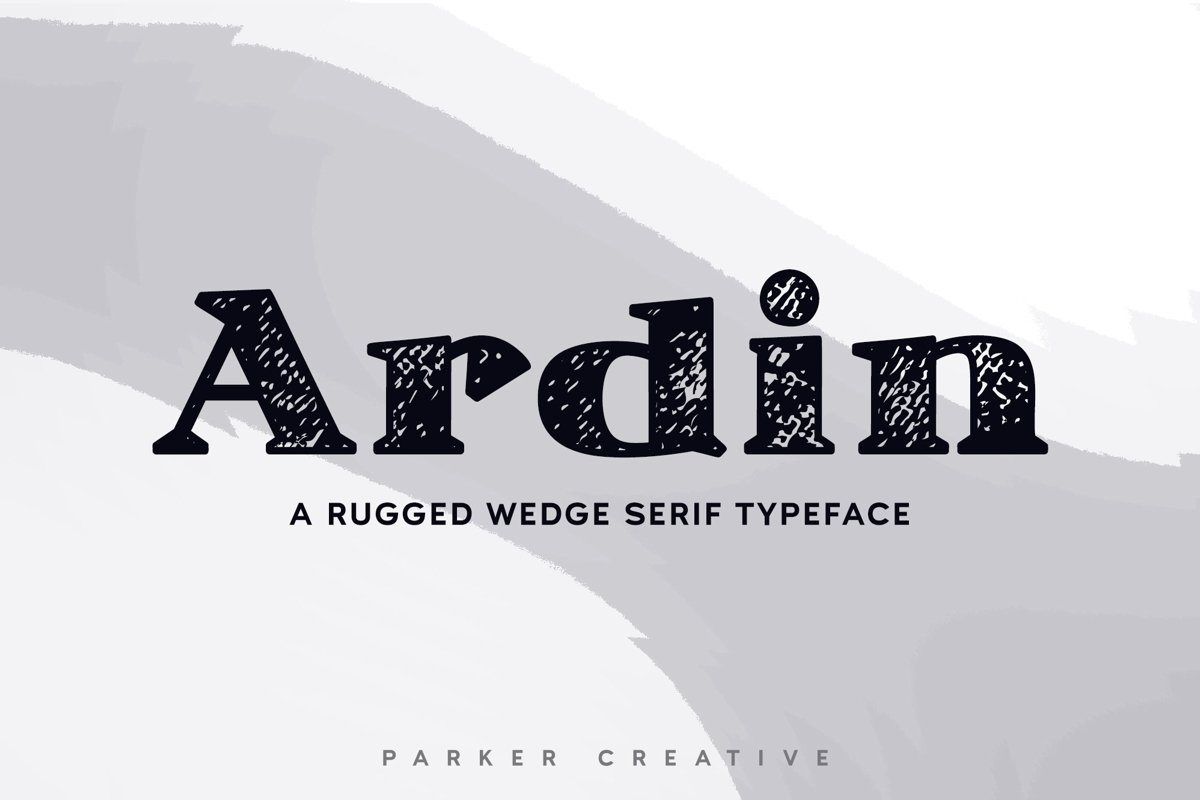 Ardin | Distressed Wedge Serif example image 1