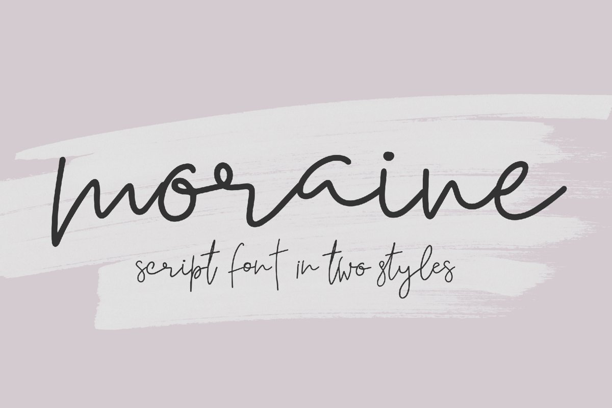 Moraine Script Font in Two Styles example image 1