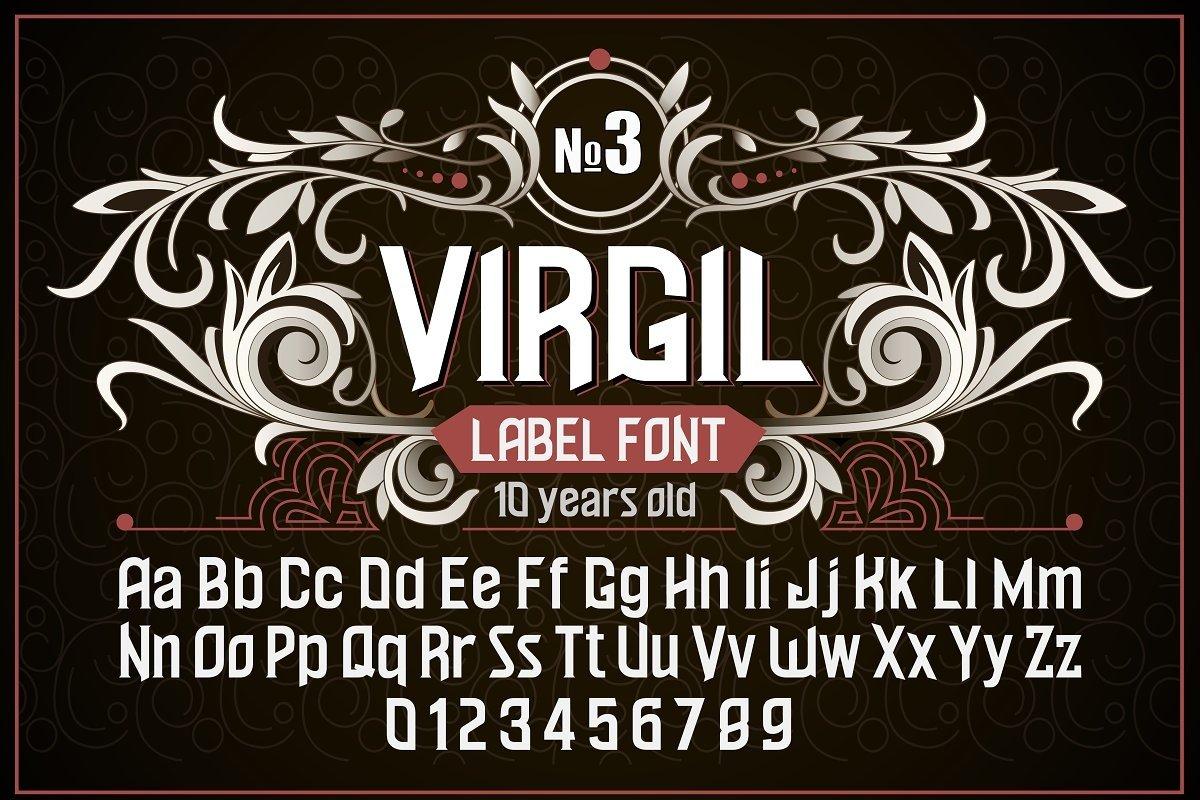 """Vintage otf font """"Virgil"""" example image 1"""