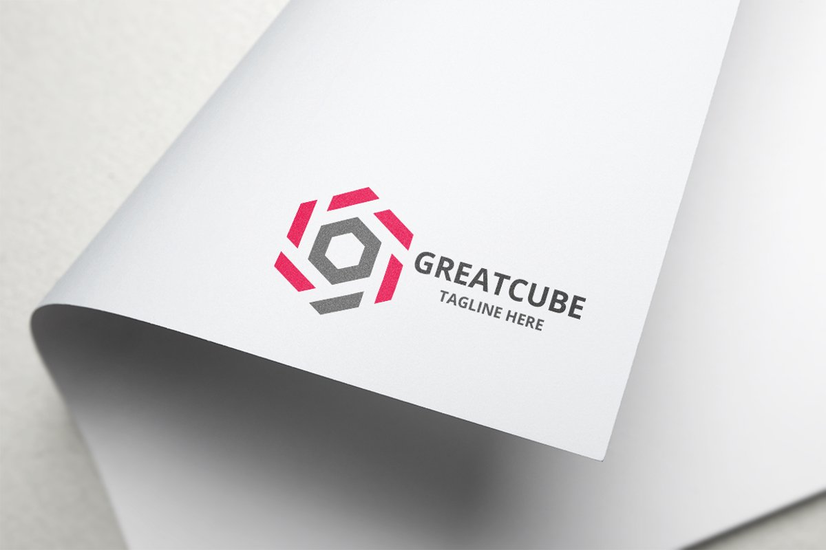 Great Cube Letter G Logo example image 1