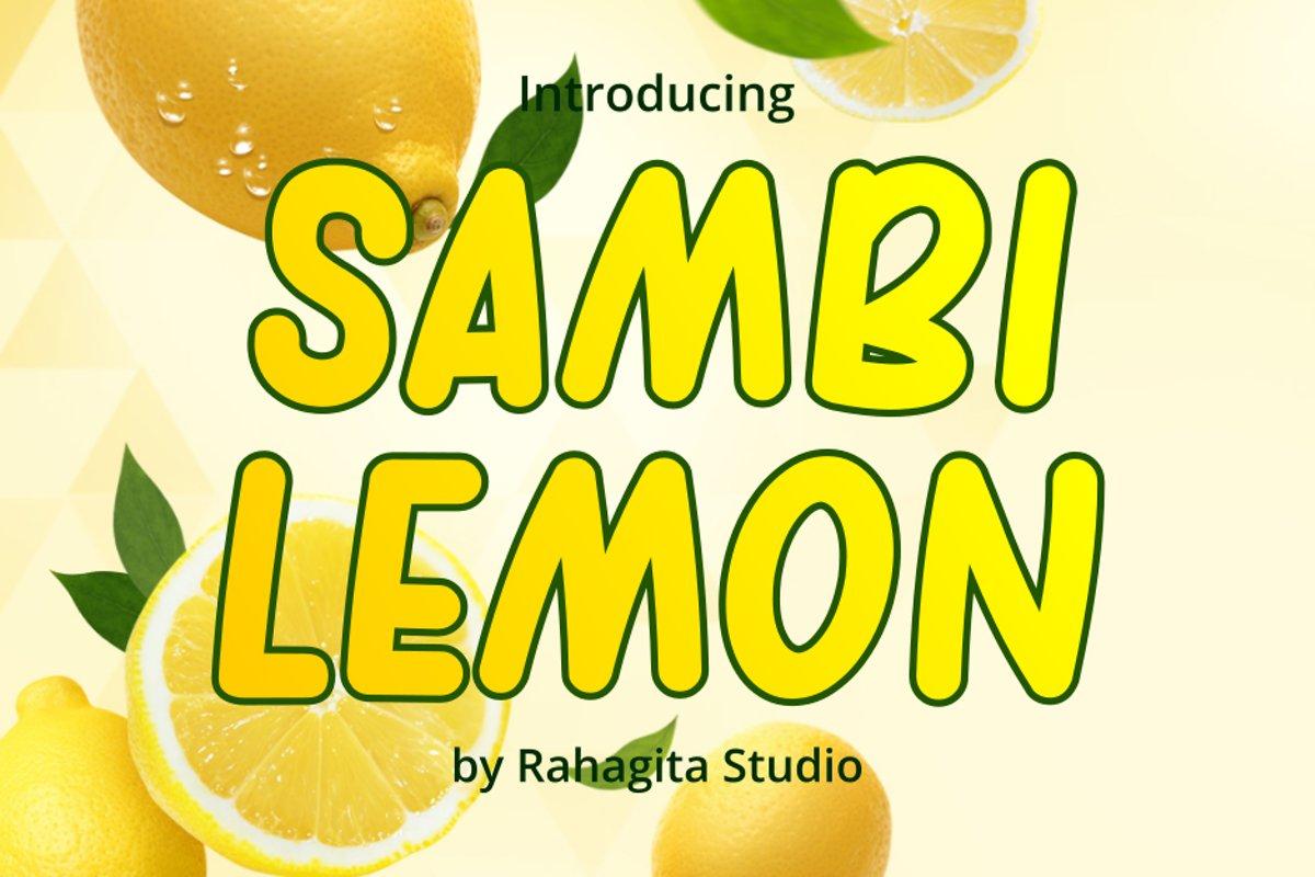 Sambi Lemon example image 1