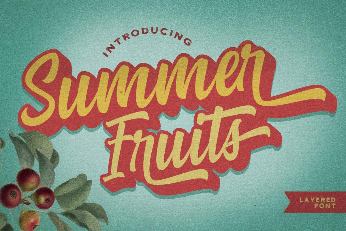 Summer Fruit - Logo Font example image 1