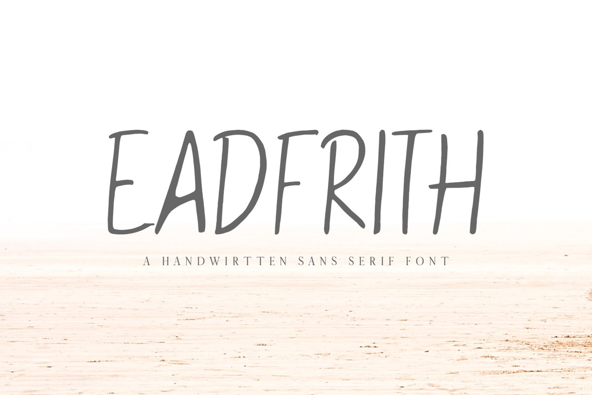 Eadfrith Handwirtten Sans Serif Font example image 1