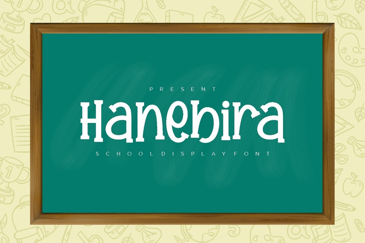 Hanebira - School Display Font example image 1