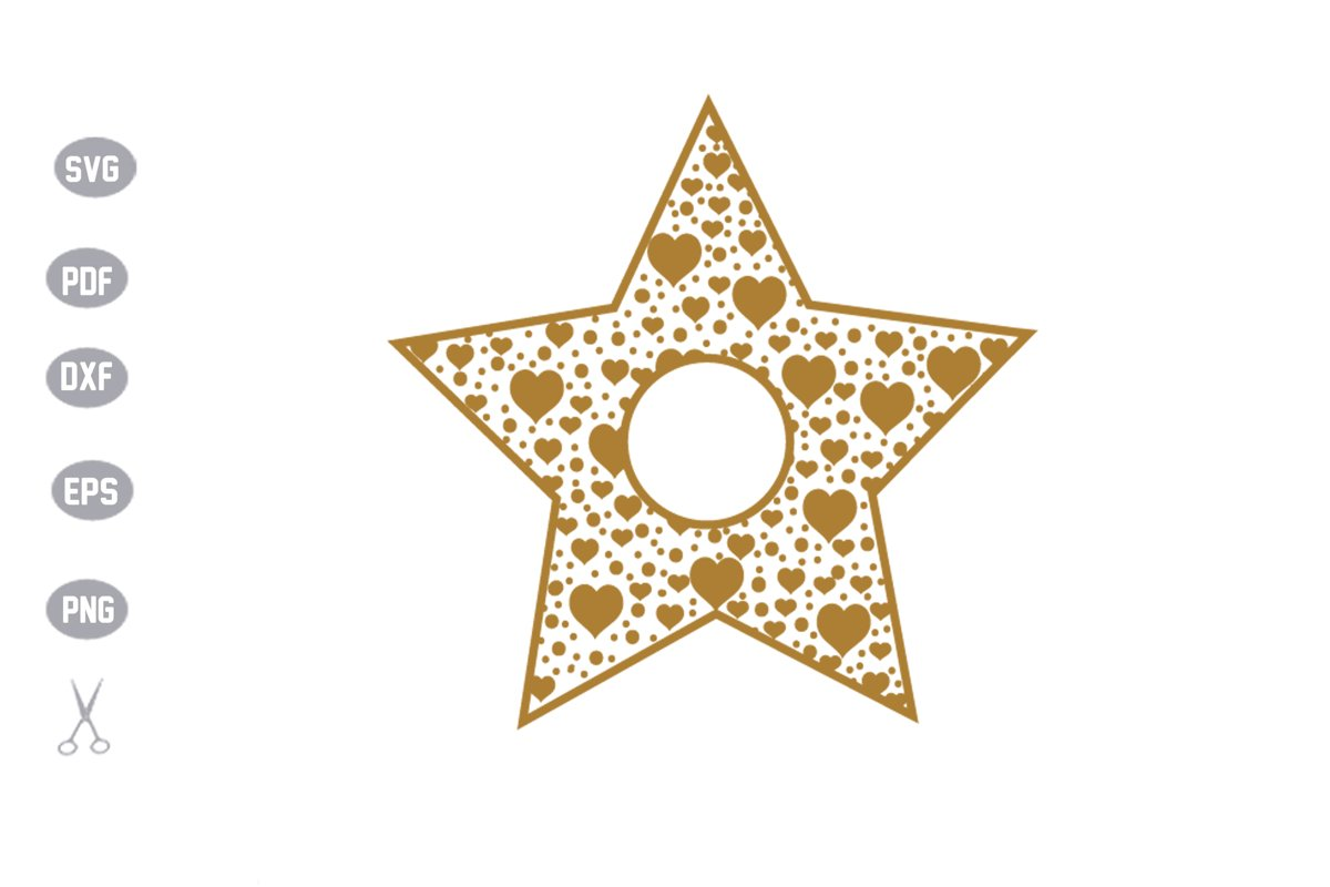 Star Monogram SVG Cut File example image 1