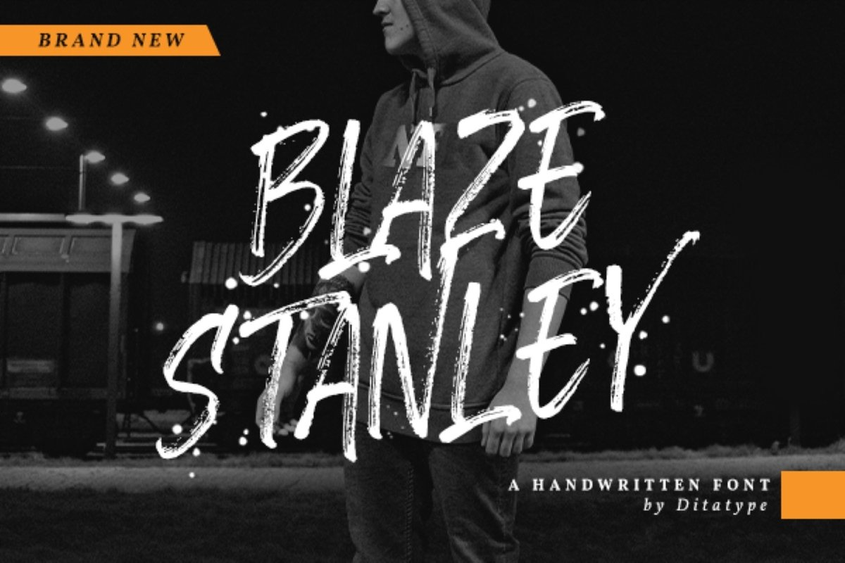Blaze Stanley - Brush Font example image 1