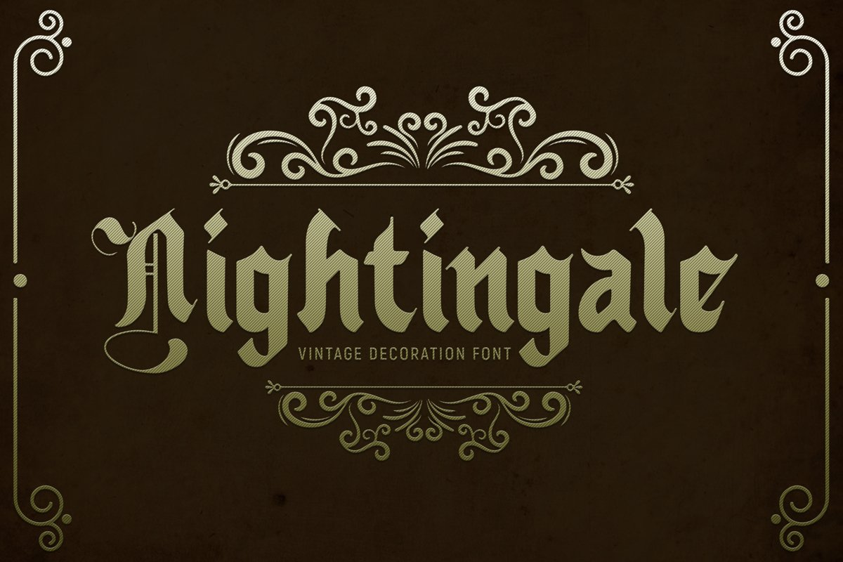 Nightingale - Medieval Font example image 1