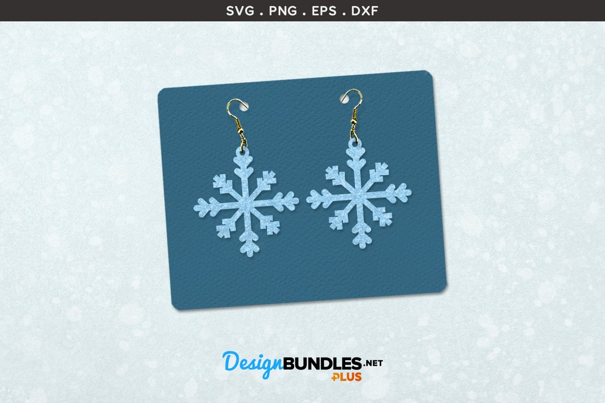 Earrings Template   Snowflakes example image 1