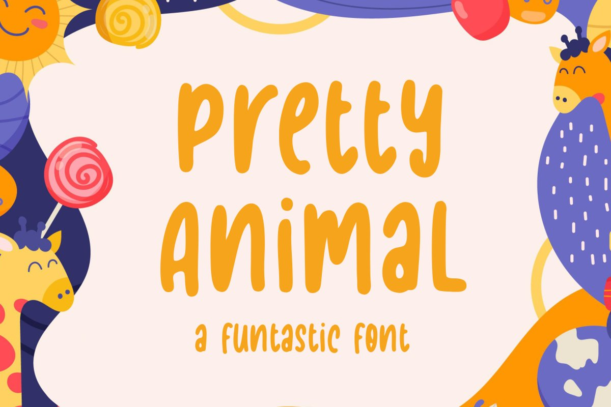 Pretty Animal - Handwritten Font example image 1