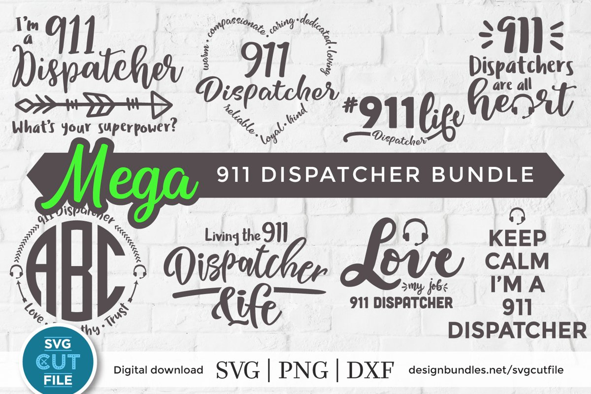 911 svg - a 911 dispatcher svg bundle for crafters example image 1