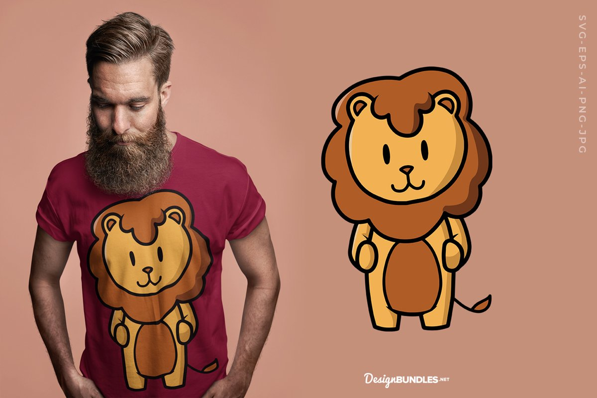 Cute Leo T-Shirt Design example image 1