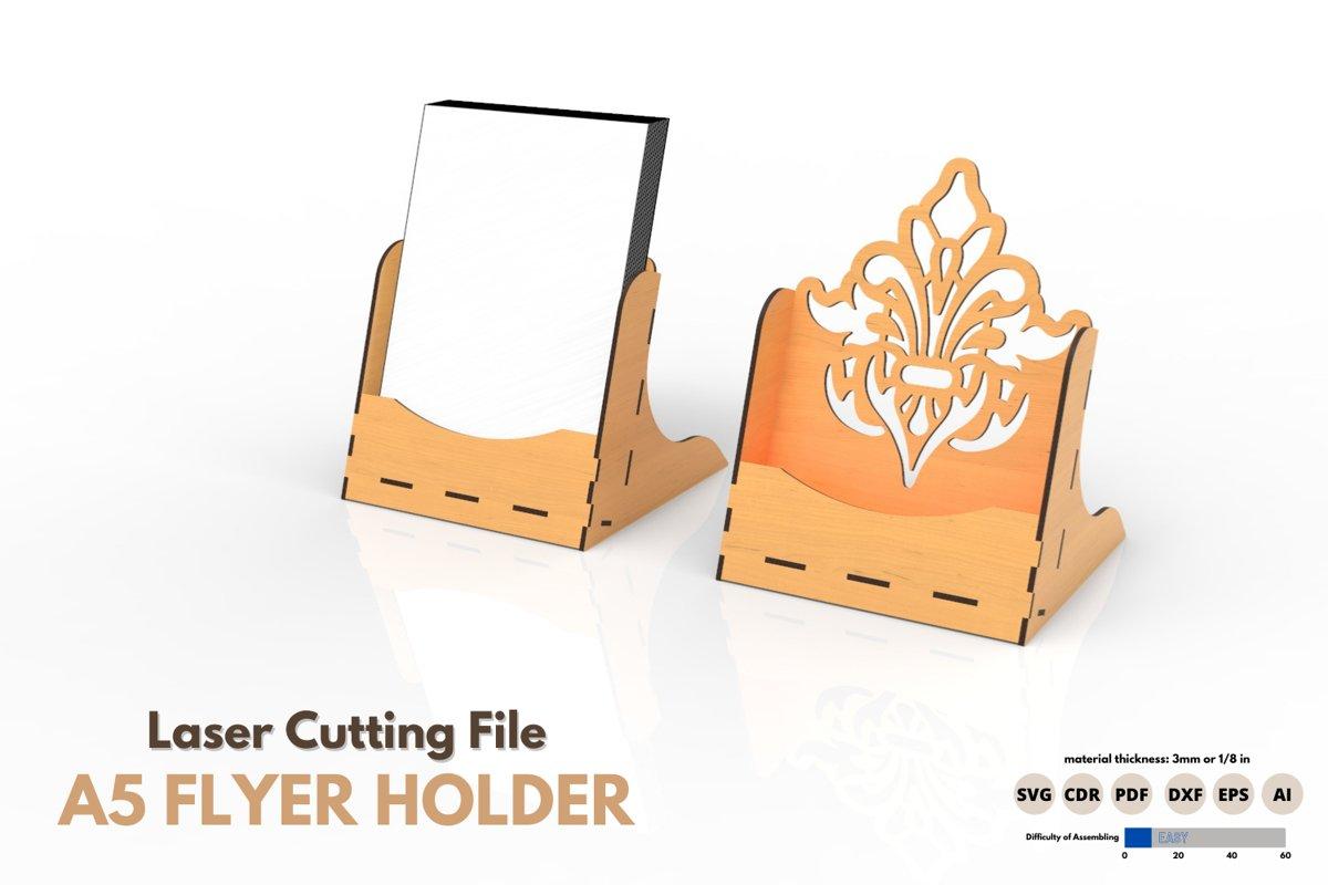 Download A5 Flyer Holder Laser Cutting File