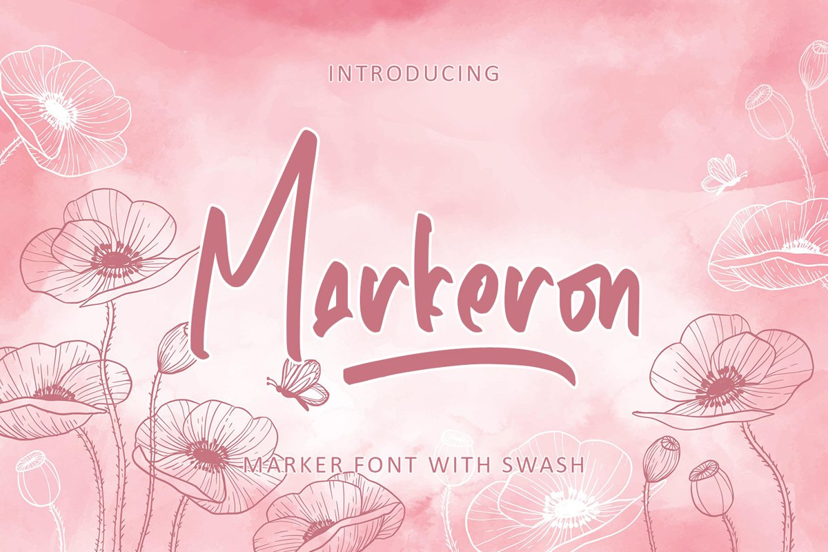 Markeron - Marker Font with Swash example image 1