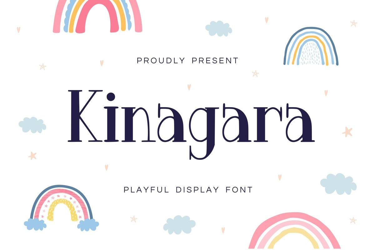 Kinagara Display Font example image 1