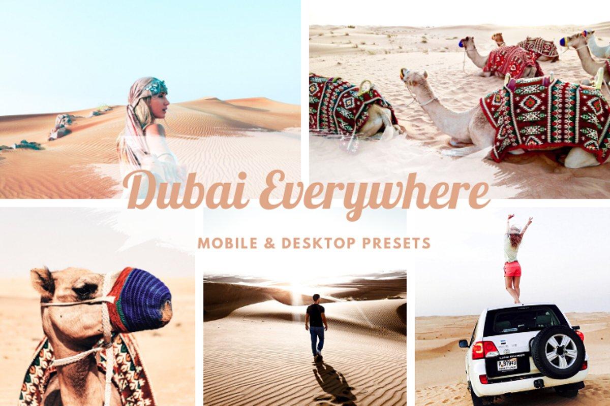 Dubai Everywhere Mobile and Desktop Lightroom Presets example image 1
